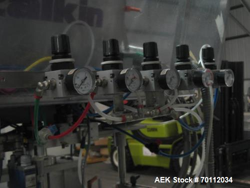 Used- Zalkin Automatic Rotary Capper, Model CA4  320 NG. Output of up to 6,000 bottles per hour. Minimum bottle height 44mm,...