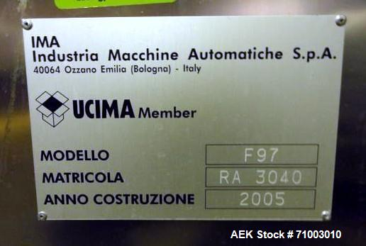 Used- IMA Model F97 Multifill Capper