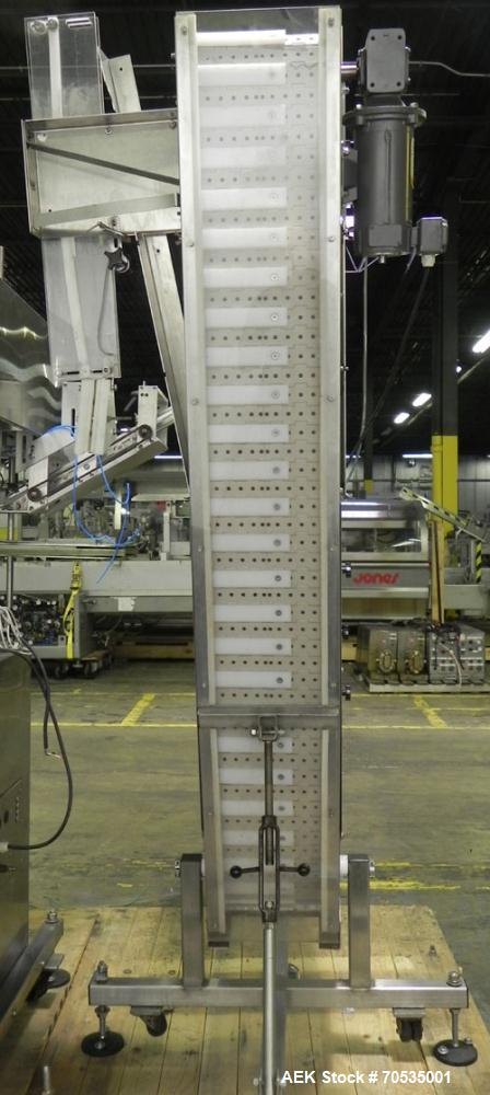Used- Inline Filling Systems Automatic Belt Capper. Machine is rated at up to 200 caps per minute depending on cap size and ...