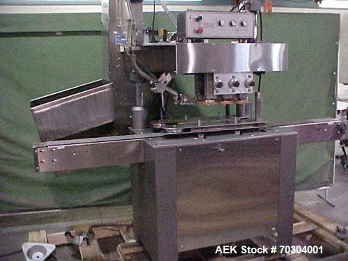 Used-Used: Kaps All Model A6 Reconditioned Automatic 6 Spindle Quill Capper. Capable of speeds up to 200 BPM, equipped with ...