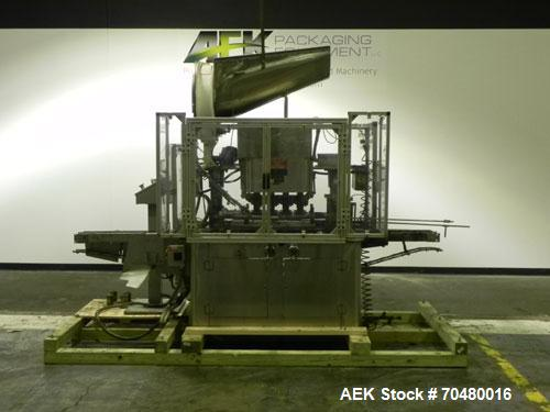 Used- Resina Model U40-663 Automatic Inline Capper. Machine is capable of speeds up to 300 caps per minute. Adjustable from ...