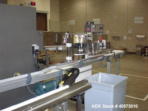 Used- Kaps-All Model F4 Inline Quill Cap Tightener/ Retorquer. Capable of speeds over 150 BPM. Cap size range: 13 to 70mm. H...
