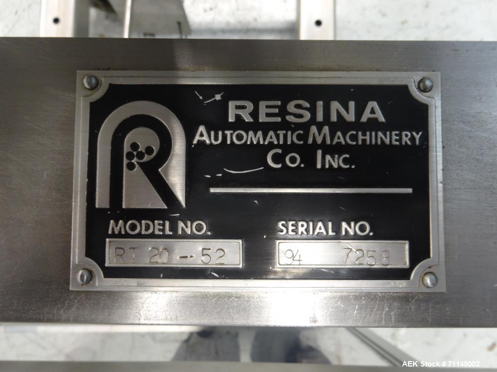 Used- Resina Model RT 20-52 Cap Tightener and Retorquer