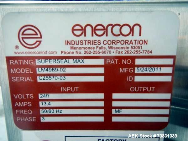 "Used- Enercon Super Seal Max Model LM4989-02 Induction Sealer. 2.5"" Wide x 28"" long seal section, 240 volt, serial# C25570-0..."