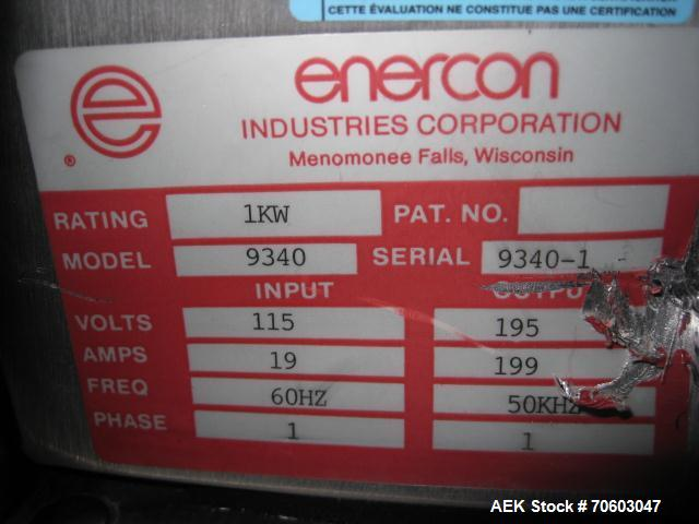 Used- Enercon Induction Sealer, Model 9340,