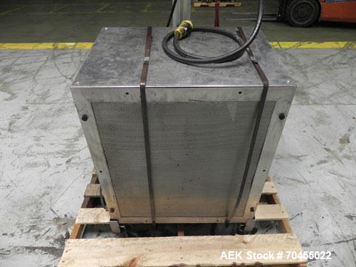 """Used- Enercon Model Compak 3100 Induction Sealer. Has 2"""" wide by 1"""" tall seal bar tunnel opening. Stainless steel enclosure...."""