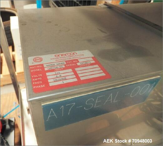 Used-Enercon Induction Sealer  Model LM2758-51, (Plus Transformer 230/115V 15A extra cost if required @$500)  Enercon Induct...
