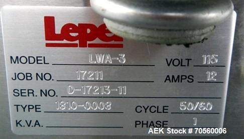 Used- Lepel TR-2001 Water Cooled Induction Sealer