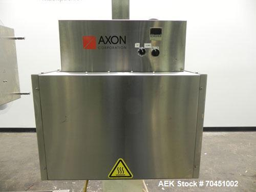Used- Axon Model EZ-100 Heat Shrink Tamper Evident Band & Sleeve Label Applicator. Rated up to 150 ppm depending on the cont...