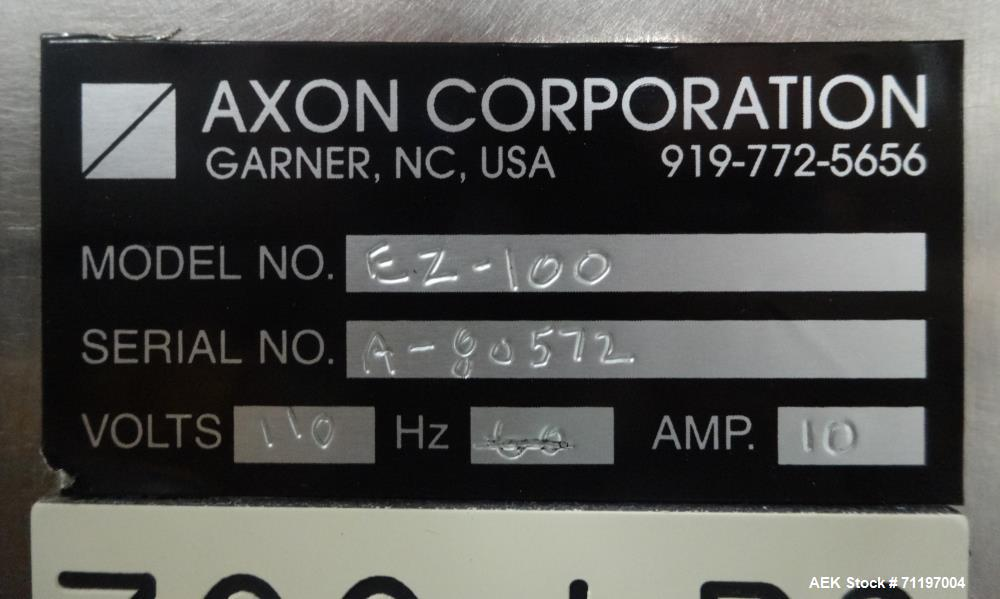 Used- Axon Model EZ-100 Tamper Evident Shrink Neck Bander