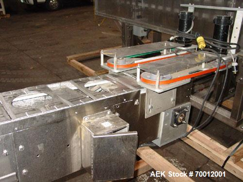 Used- Axon EZ300 Stainless Steel Neck Bander With Stainless Steel Tunnel. Capable of speeds up to 70 containers per minute. ...