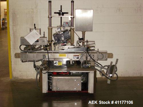 Used- Krones Garantomatic High Speed Automatic Neck Banding Sleeve Labeling Mach