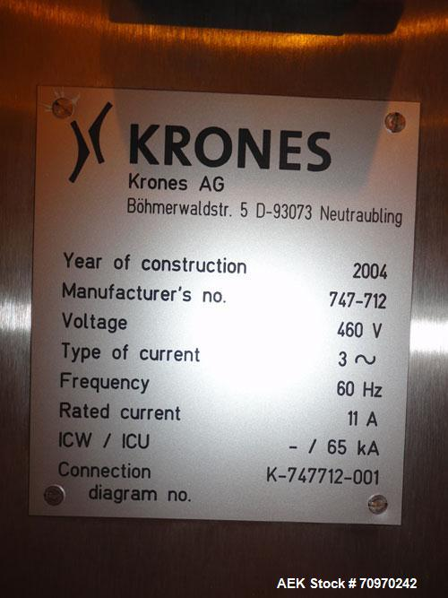 Used- Krones Garantomatic High Speed Automatic Neck Banding Sleeve Labeling Machine