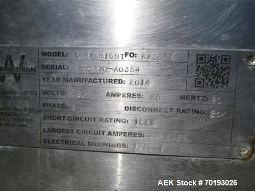 Used- Kliklok Var-Right Triseal Right Angle Carton Closer. Capable of speeds up to 120 cartons per minute. Has a carton size...