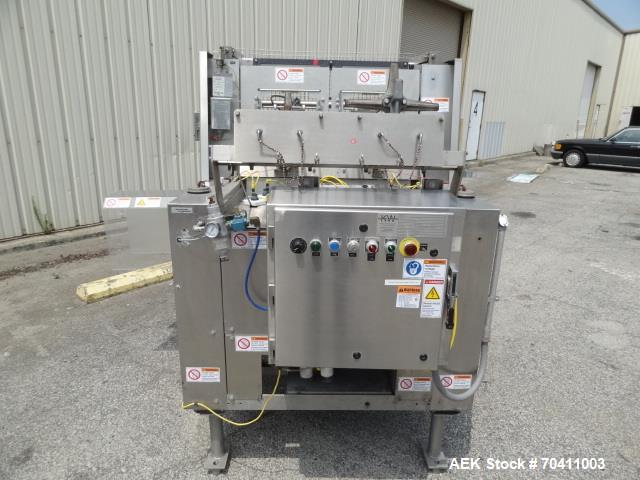 Used- Klik Lok Dual Head Tray Former; Model KFWD. Stainless steel construction. Dual forming chambers, self locking style sy...