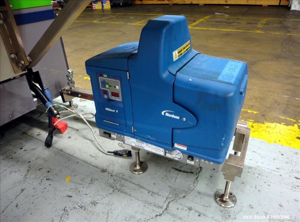Used- MGS Model TLC Top Load Cartoner with Robotic Pick and Place Unit