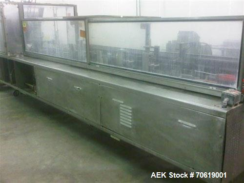 Used-Adco Model 12BC150-SS Automatic Horizontal Stainless Steel Cartoner.  Machine is capable of speeds up to 25 to 120 cart...