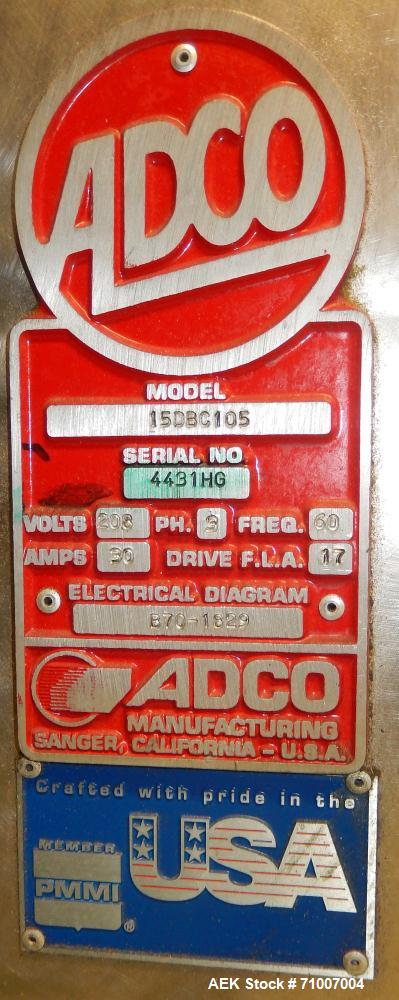 Used- Adco Model 15DBC105-SS Horizontal Automatic Load Glue Cartoner.