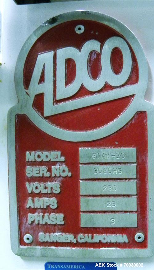Used- Adco Intermittent Motion Automatic Horizontal Cartoner, Model 9IAL-30