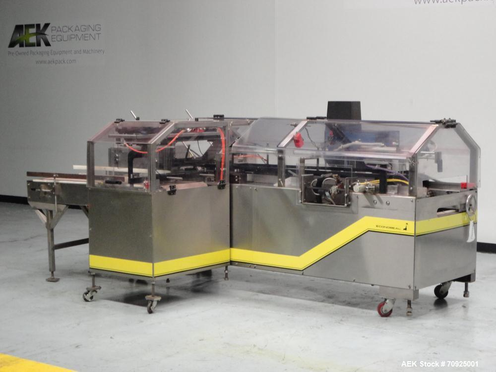 """Used- Econocorp Spartan Automatic Horizontal Glue Cartoner capable of speeds up to 40 cartons per minute. Has 12"""" centers fo..."""