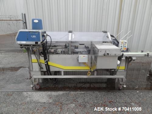 Used- Econocorp Cartoner, Model Spartan. Stainless steel, Nordson Mesa hot melt system with wash down hoses and guns. Nema 4...