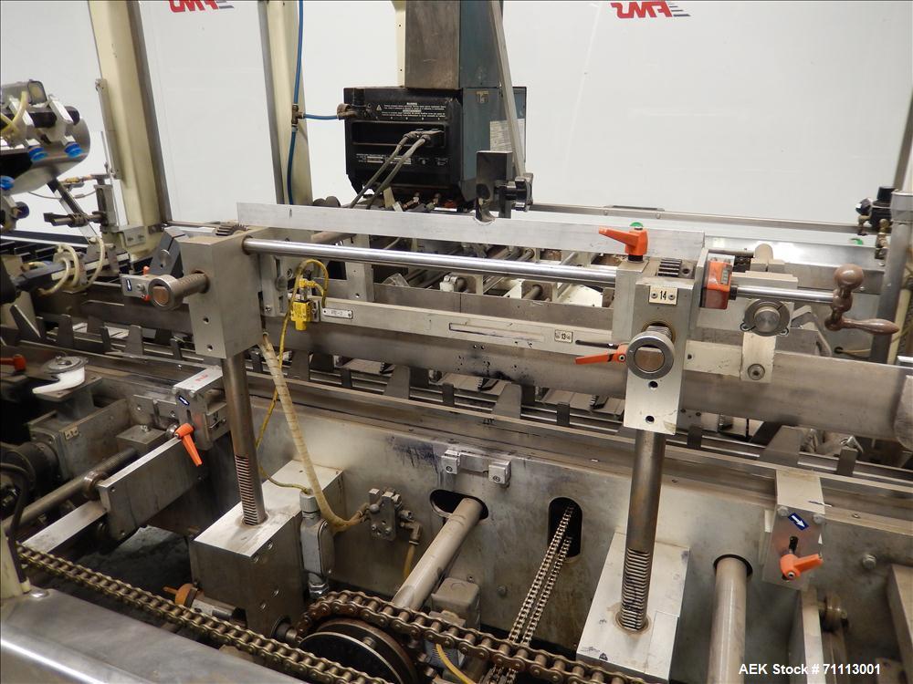 Used-FMS Model 2100 MIAL Automatic Horizontal Glue Cartoner.