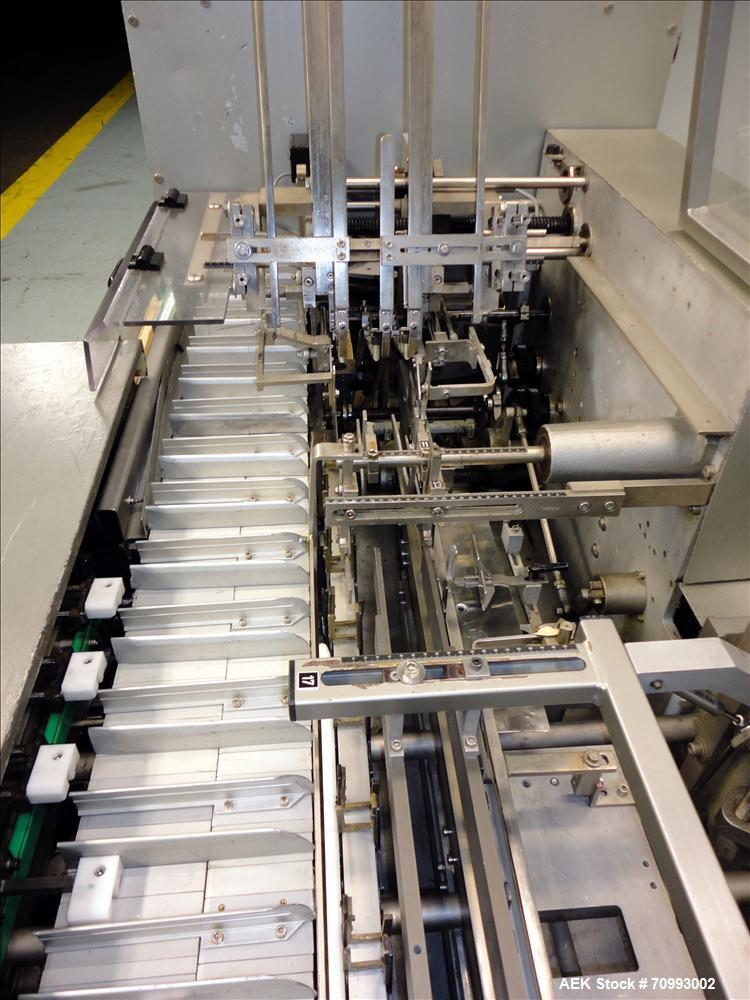 Used- IWKA Model CP150 Automatic Horizontal Tube Cartoner. Capable of speeds up to 150 cartons per minute. Carton size: (Len...