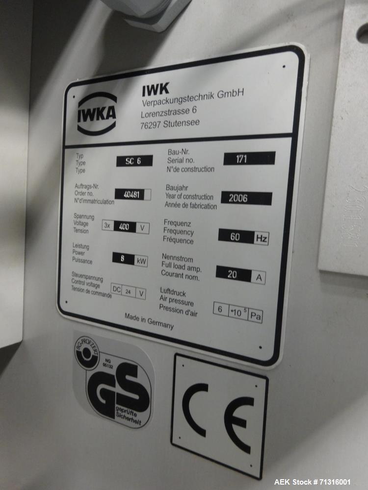"""Used- IWKA Model SC6 """"Cartopac"""" Automatic Horizontal Glue Cartoner"""
