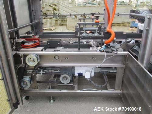 "Used- Kodiak, Model 910.30, Automatic Hot Melt Horizontal Cartoner. All stainless steel. Built in 2011. 12"" center with 4 ch..."