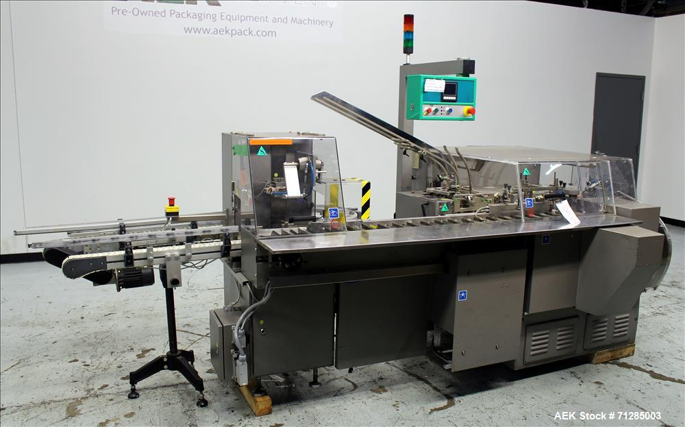 Used- Marchesini Model BA 100 Automatic Horizontal Intermittent Motion Cartoner