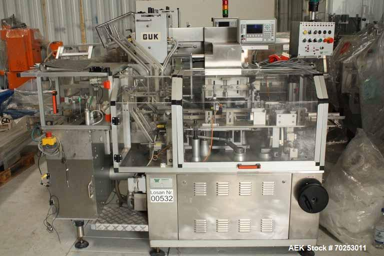 Used- Promatic cartoning machine for packing of bottles or tubes into cartons