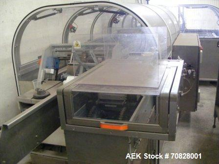 "Used-Rama RM A2C Horizontal Cartoner.  Maximum box size 11.8"" x 11.8"" x 2.7"" (300 x 300 x 70 mm).  Minimum box size 4.7"" x 3..."