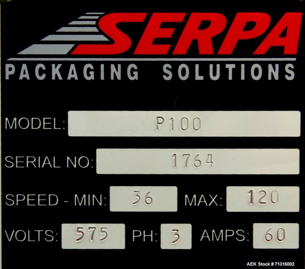 Used- Serpa Model P100 Balcony-Style Automatic Horizontal Tuck Cartoner