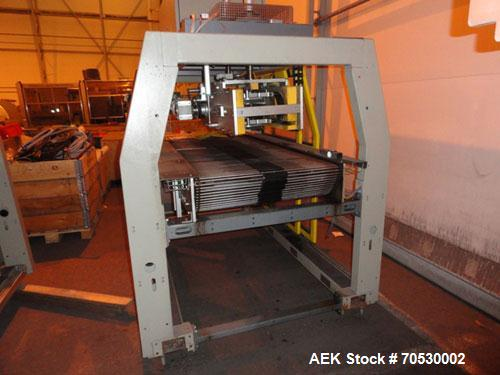 Used-SMI Cardboard Sleeve Multipacker, Model MP200 RD.200 Packs/minute; fully automatic; can pack plastic, metal or glass co...