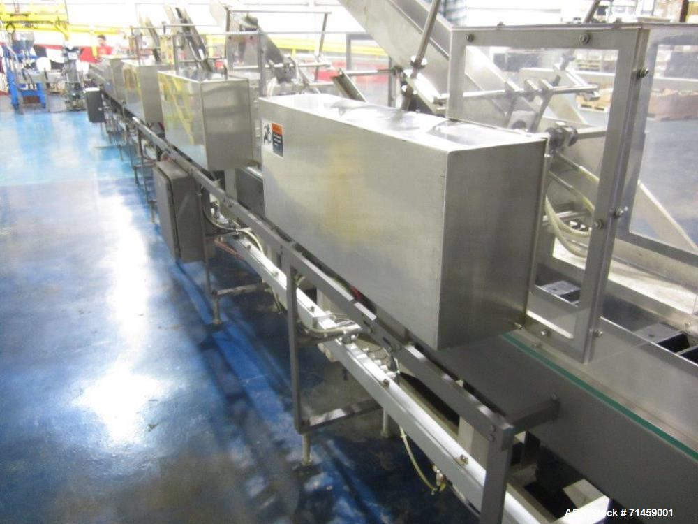 Used- Thiele Series 50 Model IM Hair Care Cartoning and Case Packing Line