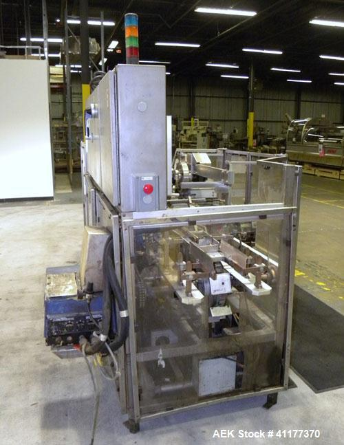 "Used- Tisma Automatic Horizontal Glue Cartoner, Model 600-SE. Capable of speeds over 200 CPM. Has 5"" centers for a carton si..."