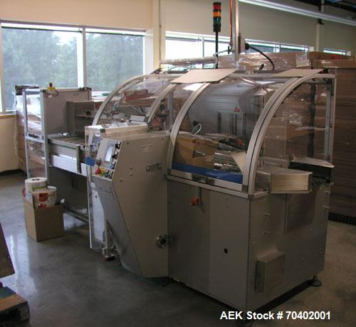 Used-V2 Engineering V106 Horizontal Cartoner capable of speeds up to 100 cpm. Has carton size range: length 30mm to 140mm, w...