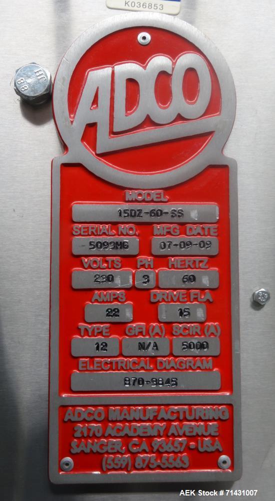 Used- Adco Model 15DZ60SS Semi Automatic Horizontal Cartoner.