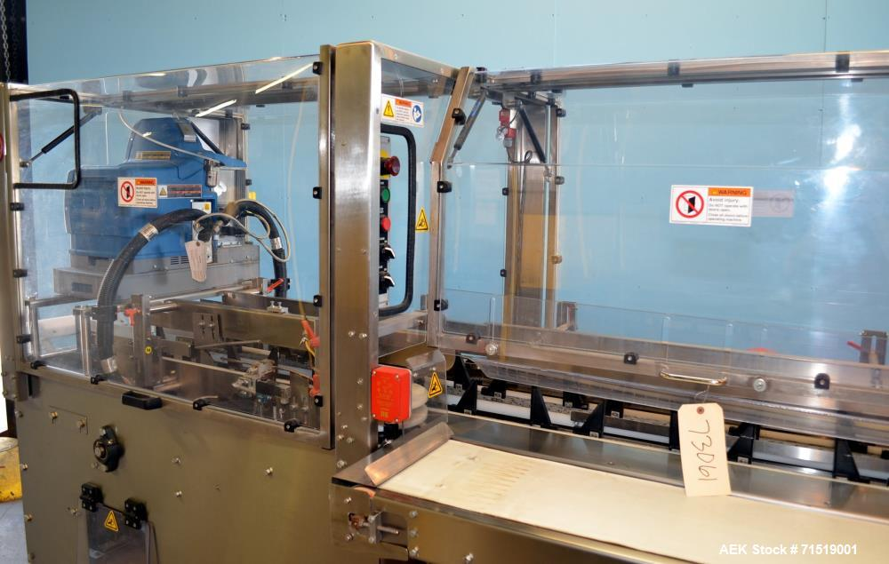 Used- Adco Model 15DZ60SS Semi Automatic Stainless Steel Horizontal Cartoner
