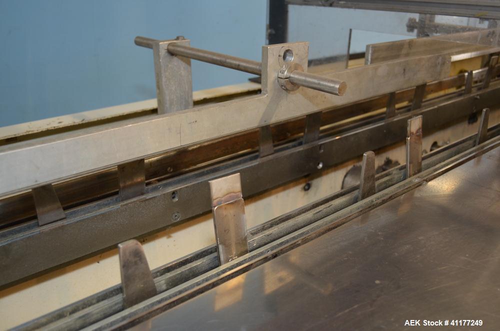 Used- Adco Horizontal Glue Cartoner, Model 15E60EC. Has (3) head rotary carton feed. 6' long manual load area. Nordson hot m...