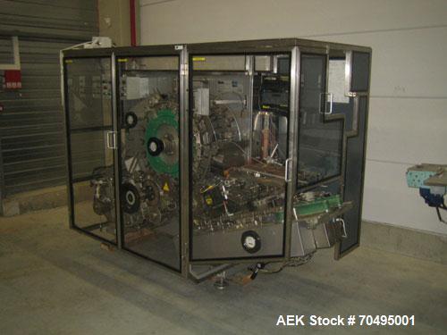 Used-CAM KO Horizontal Cartoner, capacity 500 cycles/minute, 8.3 hp/6.2 kW drive, 380V/3/50 hz, air consumption 20 N liter/m...