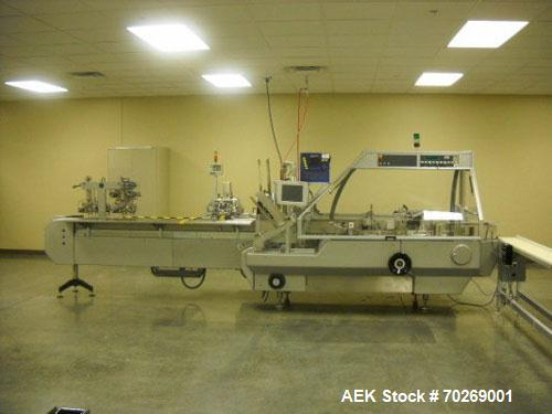 """Used-Cam PG Cartoner capable of speeds from 15 to 70 cartons per minute. Has 10"""" centers for a carton size range of 50-200 m..."""
