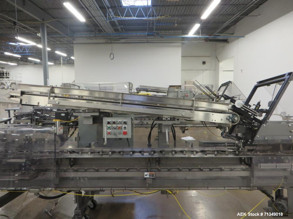 """Used- Langen Model B1 Cartoner, Top Square Chain, 6' Load Area, 9"""" Centers"""