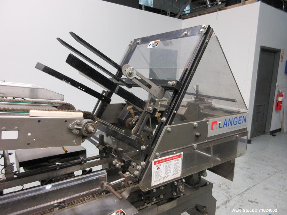 Used- Langen Model B1-M Semi-Automatic Horizontal Glue Cartoner