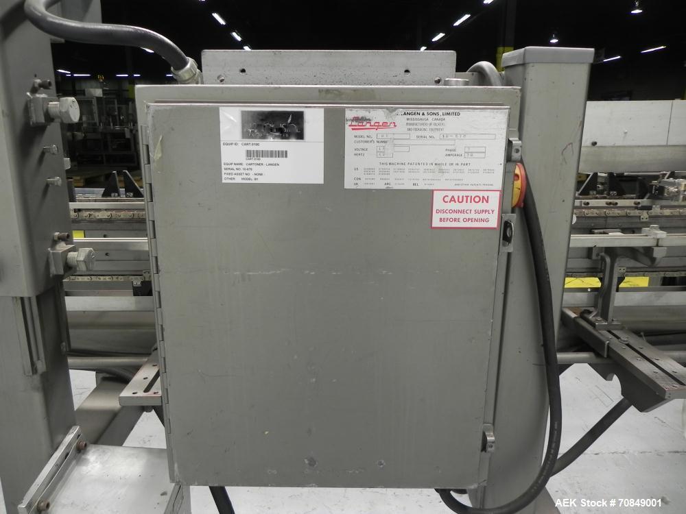 Used- Langen Model B1 Semi-Automatic Horizontal Glue Cartoner.