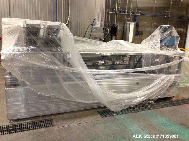 Used-Langen Model Compact S80 Stainless Steel Horizontal Cartoner. Semi automatic manual load unit capable of speeds from 20...