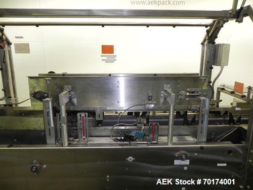 Used- Adco 15D105-SS Stainless Steel Horizontal Load Semi Automatic Cartoner. Machine is capable of speeds up to 125 cartons...