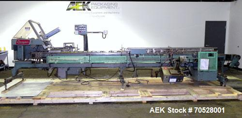 """Used- Langen Horizontal Cartoner, Model B1. Capable of speeds up to 120 cartons per minute. Has 9"""" centers for a carton size..."""
