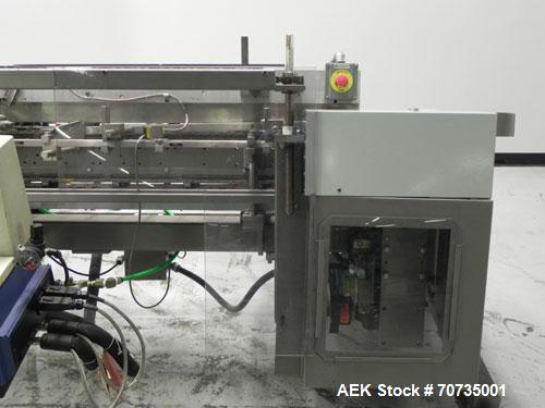 "Used- Langen Model B1 Semi-Automatic Horizontal Cartoner capable of speeds up to 120 cartons per minute. Has 9"" centers with..."