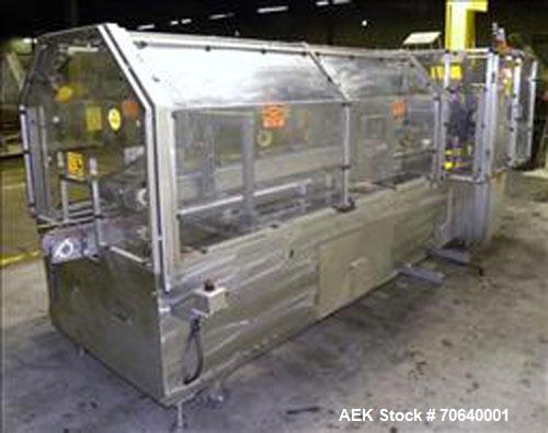 Used-Adco Automatic Wraparound Carton Sleever, Model 12WA-125-33, capable of speeds up to 125 cpm.  Fully automatic multipac...